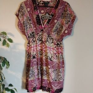 NWT, Angie, Printed Dress, Size L
